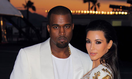 Kanye West and Kim Kardashian at the premiere of Cruel Summer at Cannes