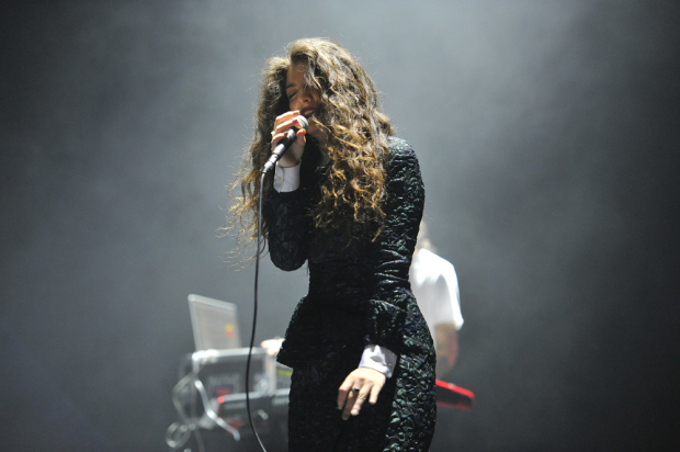 Lorde On Stage At Not So Silent Night 2013