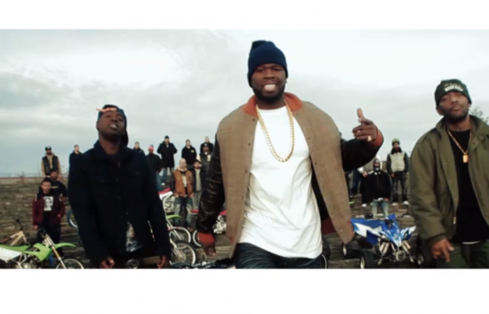 "50 Cent is joined by Prodigy, Styles P and Kidd Kidd for the ""Chase the Paper"" video"