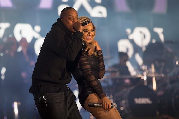 Jay Z and Beyonce On Stage