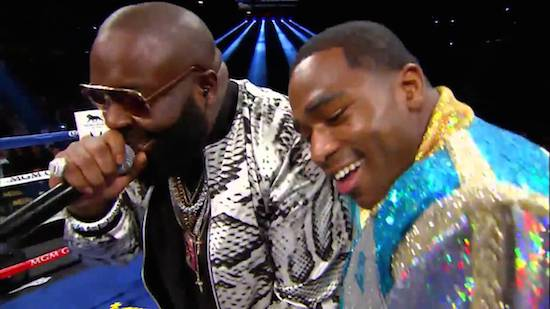 Rick Ross Takes Adrian Broner to Ring