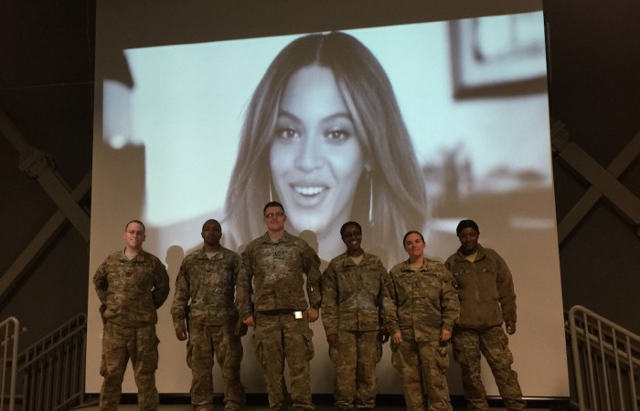 Beyonce and the Troops