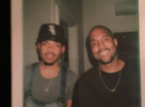 Chance the Rapper and Kanye West Studio