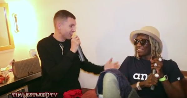 Tim Westwood sits down with Young Thug during London show.