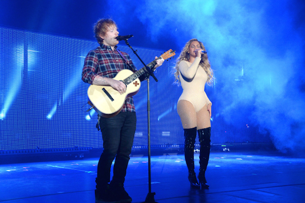 Beyonce and Ed Sheeran (Source: Getty Images)