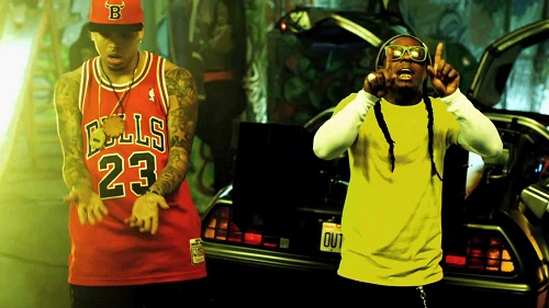 chris brown brings out lil wayne in miami one hell of a nite
