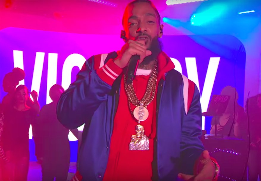 Nipsey Hussle Performs 'Last Time That I Checc'd' On MTV's TRL