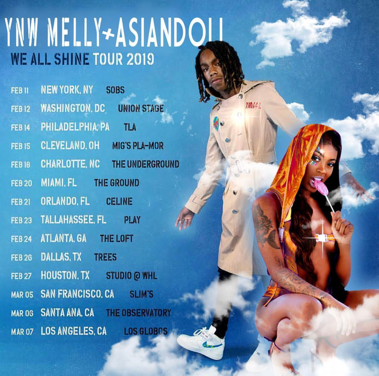 "YNW Melly Announces ""We All Shine"" Tour With Asian Doll"
